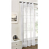 Dreams and Drapes Paloma White 52x72 inches (132x183cm) Eyelet Single Curtain