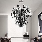 De Majo Ciocca Three Light Pendant - Black Chromed - Black