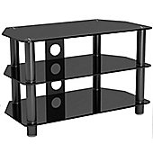 LCD/LED/Plasma Black Glass 37 inch TV Stand