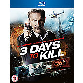 Three Days To Kill Blu Ray
