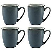 Denby Everyday Mugs, Set of 4, Teal Blue