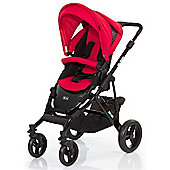ABC Design Mamba Pushchair - Black & Cranberry