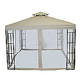 Bentley Garden 3m x 3m Steel Art Gazebo With Curtains