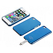 Magnetic Battery Case for iPhone 5 2,800mAh Blue Bulk
