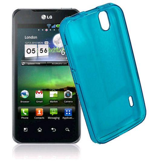 LG Optimus Black P970 U-bop gSHELL Tough All-Body Case Smoke Blue