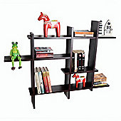 Lattice - Geometric Wall Display Storage Shelf - Black