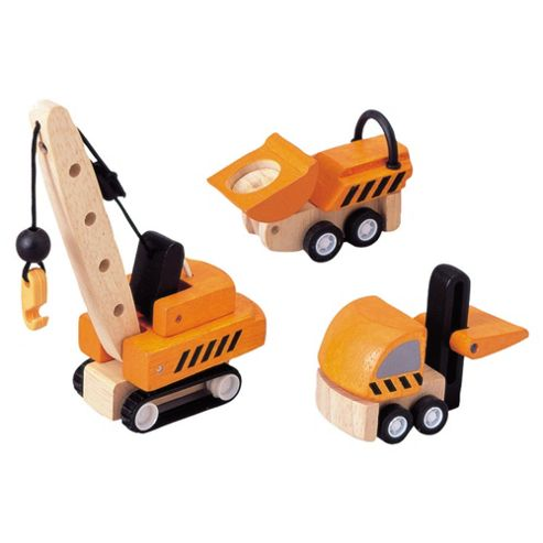 Plan Toys Construction Vehicles ,wooden toy