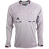 adidas Mens Grey Long Sleeved Formotion Referee Shirt Jersey - Grey