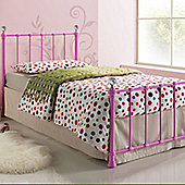 Jessica Metal Single Bed - Pink