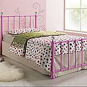 Jessica Metal Single Bed - Pink