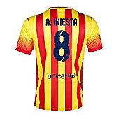2013-14 Barcelona Away Shirt (A.Iniesta 8) - Red