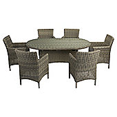 Oxford 7-piece Oval Garden Furniture Set