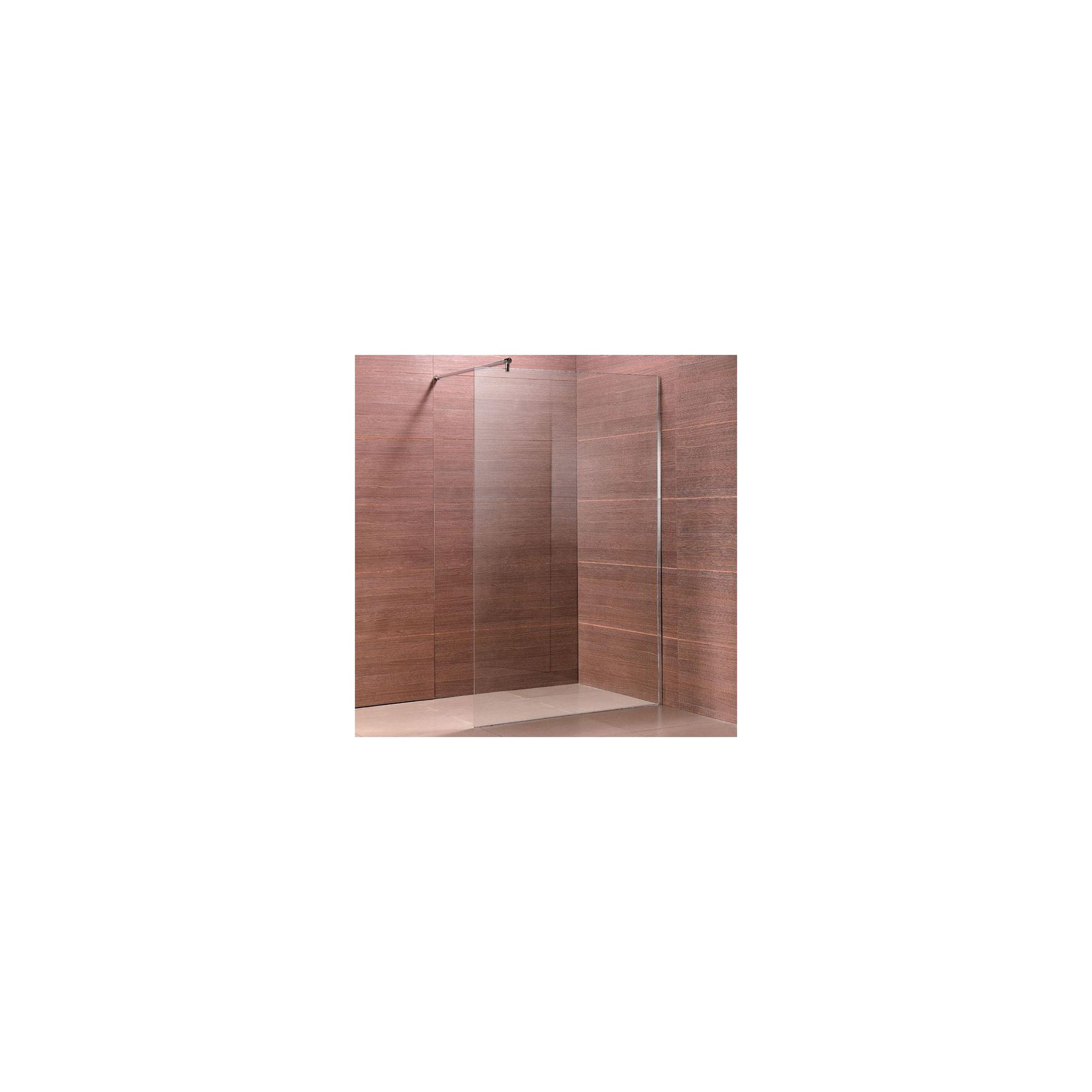 Duchy Premium Wet Room Glass Shower Panel, 1100mm x 800mm, 8mm Glass, Low Profile Tray at Tesco Direct