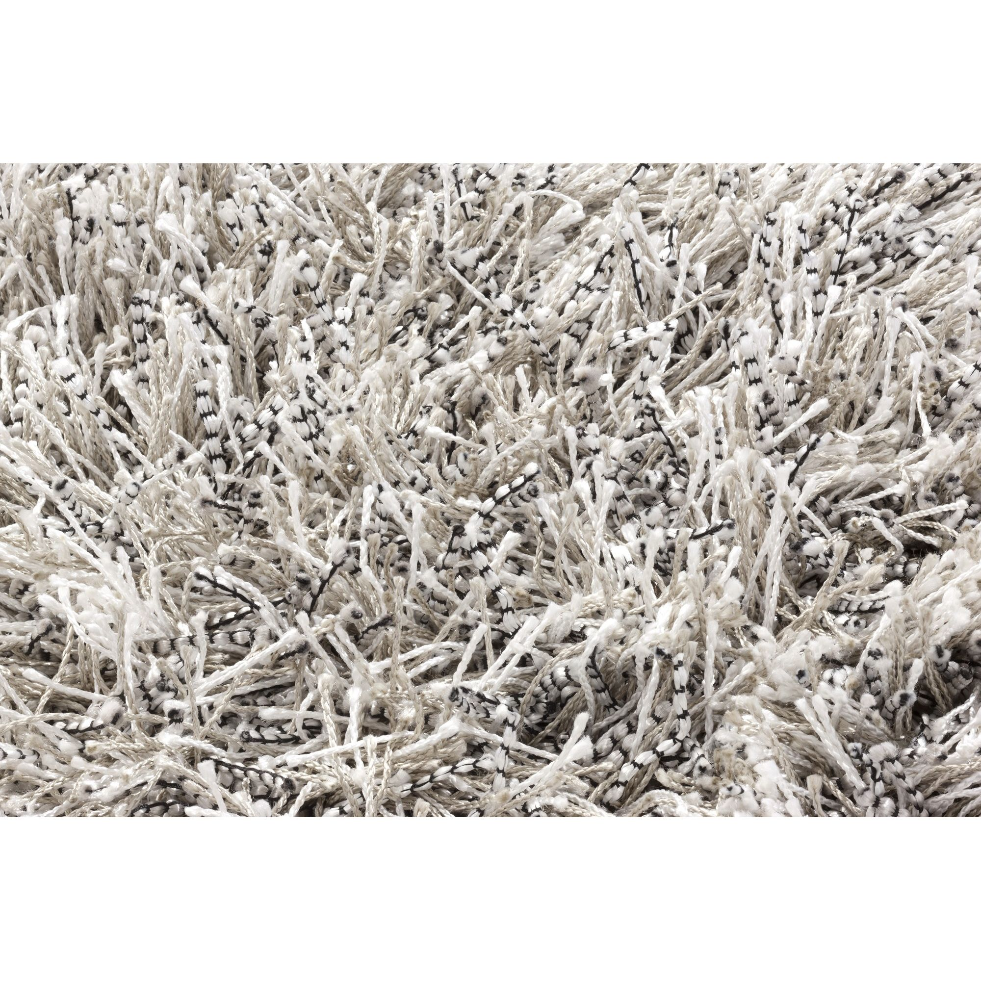 Linie Design Sprinkle Silver Shag Rug - 200cm x 140cm at Tescos Direct
