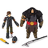 How To Train Your Dragon 2 Viking Warriors - Hiccup Vs. Drago Figures