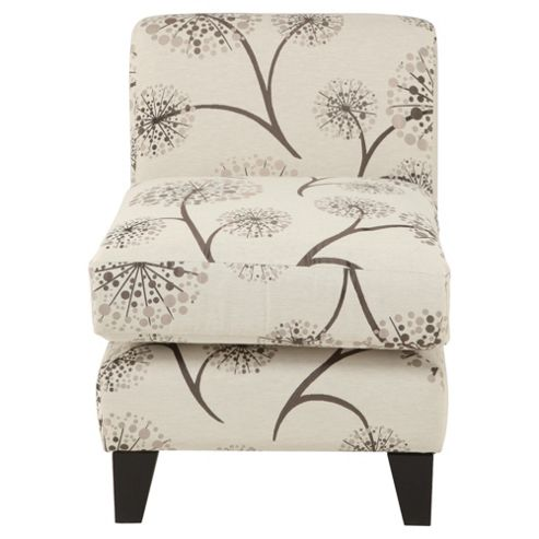 Dandelion fabric accent chair mink