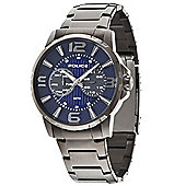 Police Visionary Mens Stainless Steel Day & Date Watch 14100JSU-03M