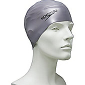 Speedo Senior Silcone Swimming Cap - Silver
