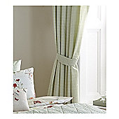Dreams n Drapes Country Journal Green Lined Curtains - 168x183cm