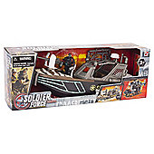 Soldier Force Patrol Vehicle Boat Playset