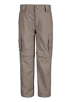 Mountain Warehouse Steve Backshall Kids Trekker Convertible Trousers - Beige
