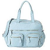 OiOi Faux Lizard Carry All Bag (Powder Blue)