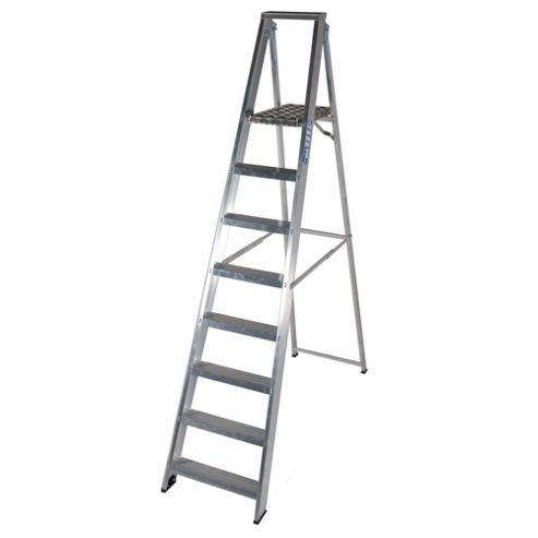 TB Davies Industrial Aluminium 8 Tread Platform Step Ladder
