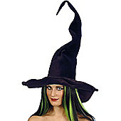Witch Hat - Tall & Twisty Black velour