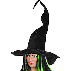 Smiffy's - Witch Hat - Tall & Twisty Black velour
