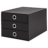 Tesco Card 3 Drawer Desk Organiser, Black