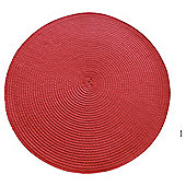 Set of 2 Round Red Placemats