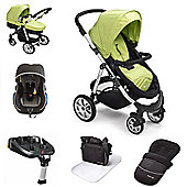 Mee-go Pramette Travel System With Isofix Base - Lime