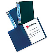 Rexel A4 20 Pockets See and Store Book with Full-length Spine Ticket Blue