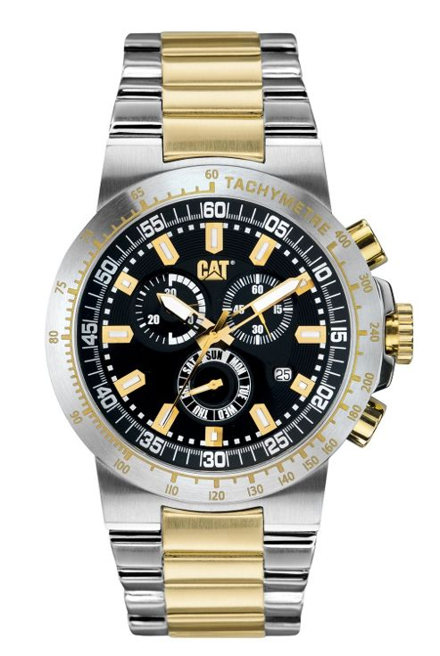 CAT Cosmofit chrono Mens Gold PVD Stainless Steel Chronograph Watch YP.143.13.123