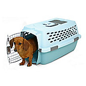 Petmate Medium Ultra Vari Kennel Dog Kennel in Bleached Linen and Spa Teal