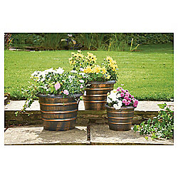 Greenhurst Bronze Effect Planters, 3 pack