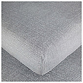 Grey Denim Fitted Sheet Single