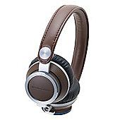 """Audio Technica ATH-RE700 On-Ear Headphones, Brown"""