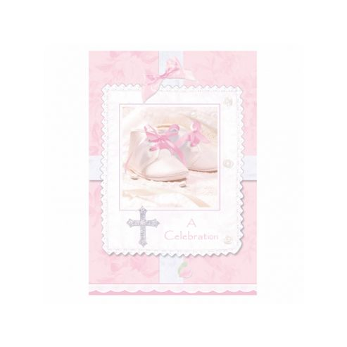 Tiny Blessing Pink Party Invitations x8 - Amscan