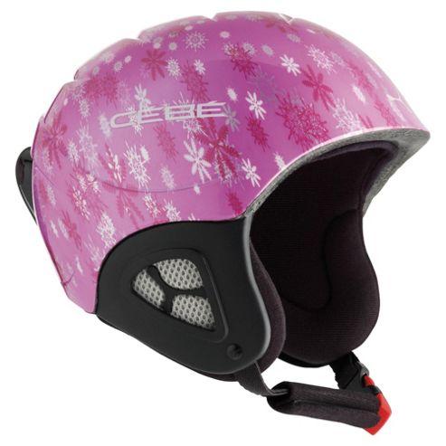 Cebe Pluma Junior Basics Ski Helmet Pink Snowflakes 50-52