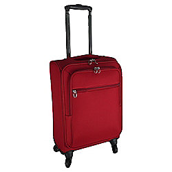 Tesco Lightweight 4-Wheel Small Red Suitcase
