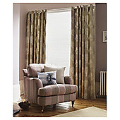 "Woodland Lined Eyelet Curtains W117xL137cm (46x54"") - - Natural"