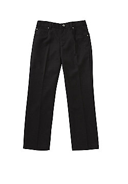 F&F School Boys 5 Pocket Reinforced Knee Trousers - Black
