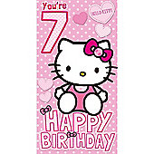Hello Kitty 7th Birthday Card