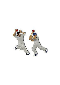 3D Cricket Player Novelty Themed Cufflinks