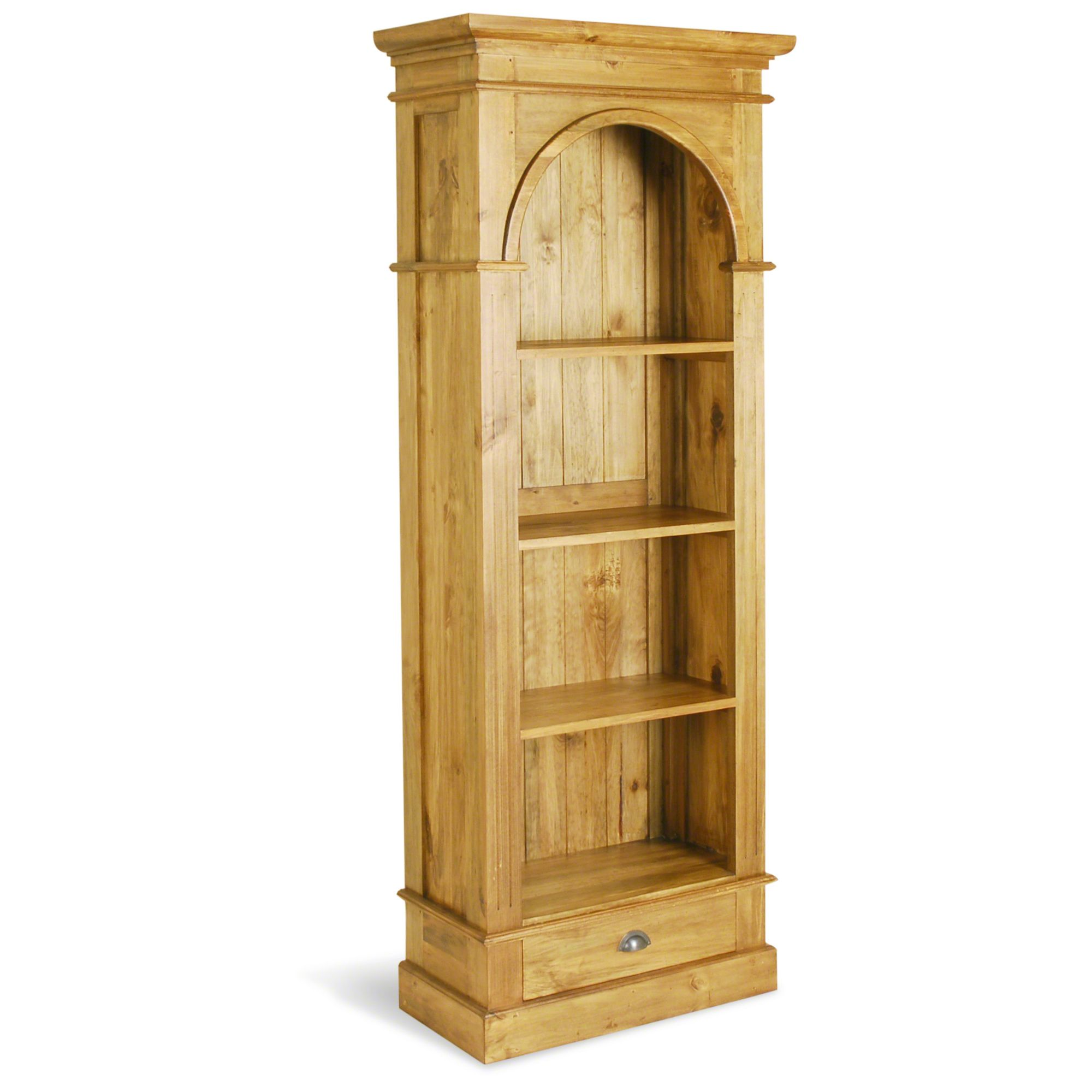 Oceans Apart Vintage Pine Small Slim President Bookcase at Tescos Direct