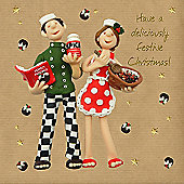 Holy Mackerel Greeting Card - Christmas Card - Have a Deliciously Festive Christmas