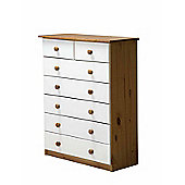 5 + 2 Chest of Drawers in Antique and White