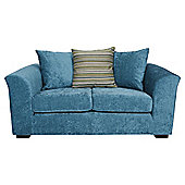 Toronto Fabric Small Sofa Teal