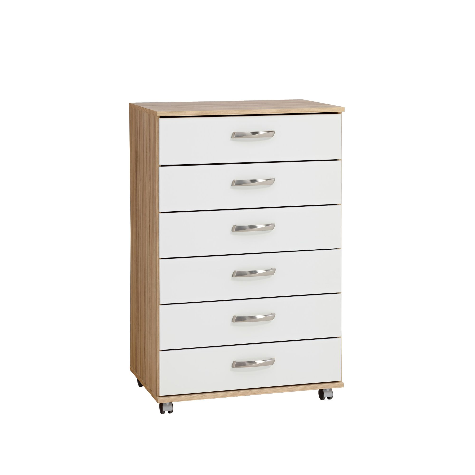 Ideal Furniture Regal 6 Drawer Chest in white at Tesco Direct